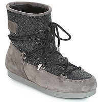 Topánky Ženy Obuv do snehu Moon Boot FAR SIDE LOW SUEDE GLITTER Čierna / Šedá