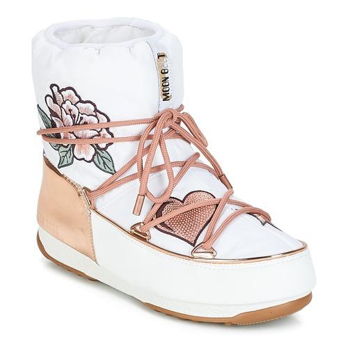 Topánky Ženy Obuv do snehu Moon Boot PEACE   LOVE WP Biela   Ružová   Zlatá a257b712f6b