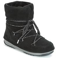Topánky Ženy Obuv do snehu Moon Boot LOW SUEDE WP Čierna