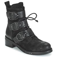 Topánky Ženy Polokozačky Mimmu MOEZ Čierna
