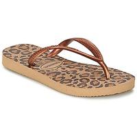 Topánky Dievčatá Žabky Havaianas SLIM ANIMALS Bronzová