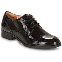 Topánky Ženy Derbie Clarks NETLEY Čierna / Pat