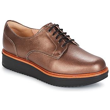 Topánky Ženy Derbie Clarks TEADALE Svetlá hnedá