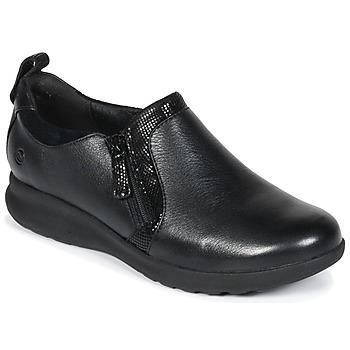 Topánky Ženy Derbie Clarks Un Adorn Zip Čierna / Combi