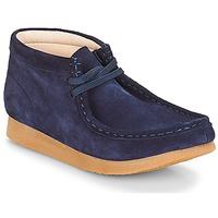 Topánky Deti Polokozačky Clarks Wallabee Bt Námornícka modrá / Suede