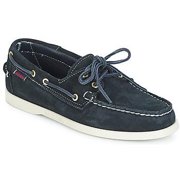 Topánky Muži Námornícke mokasíny Sebago DOCKSIDES SUEDE Námornícka modrá
