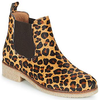 Topánky Ženy Polokozačky Bensimon BOOTS CREPE Leopard