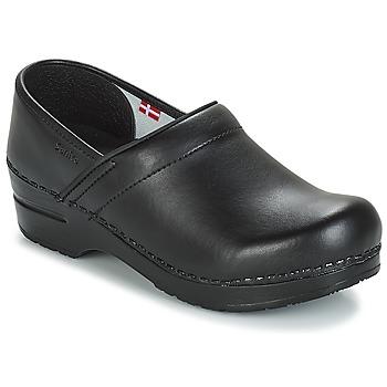 Topánky Muži Nazuvky Sanita PROF Čierna