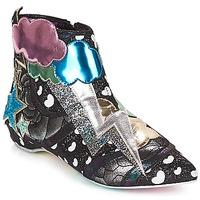 Topánky Ženy Polokozačky Irregular Choice Electric boots Čierna / Strieborná