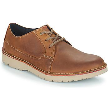 Topánky Muži Derbie Clarks VARGO PLAIN Hnedá