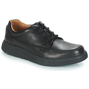 Topánky Muži Derbie Clarks Un Abode Ease Čierna