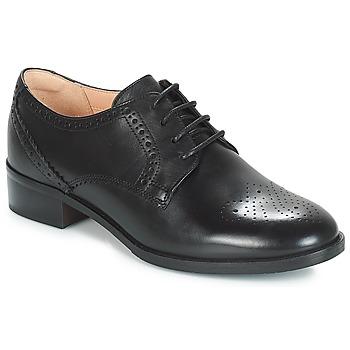 Topánky Ženy Derbie Clarks NETLEY ROSE Čierna
