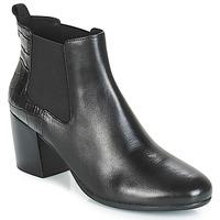 Topánky Ženy Čižmičky Geox D NEW LUCINDA Čierna