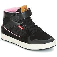 Topánky Dievčatá Členkové tenisky Kickers GREADY MID CDT Čierna / Ružová