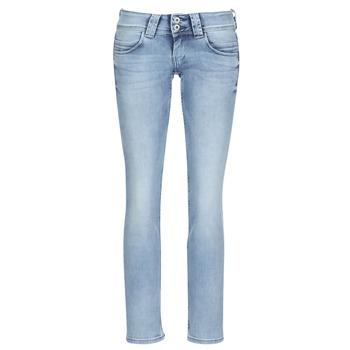 Oblečenie Ženy Rovné džínsy Pepe jeans VENUS Modrá
