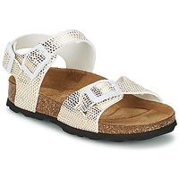 Topánky Dievčatá Sandále Betula Original Betula Fussbett JEAN Hadí vzor / Zlatá
