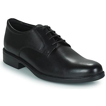 Topánky Muži Derbie Geox CARNABY D Čierna