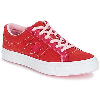 Topánky Ženy Nízke tenisky Converse ONE STAR OX Červená / Ružová