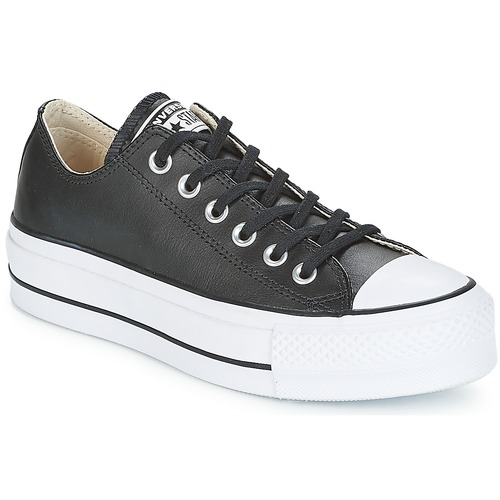 Topánky Ženy Nízke tenisky Converse CHUCK TAYLOR ALL STAR LIFT CLEAN OX Čierna / Biela