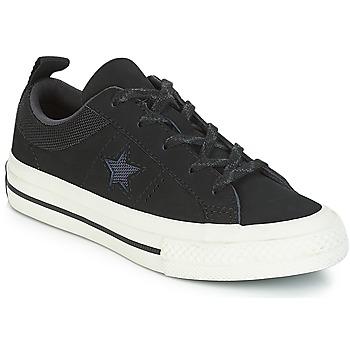 Topánky Deti Nízke tenisky Converse ONE STAR NUBUCK OX Čierna / Biela