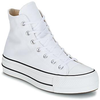 Topánky Ženy Členkové tenisky Converse CHUCK TAYLOR ALL STAR LIFT CANVAS HI Biela