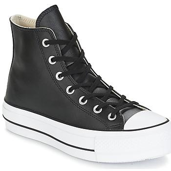 Topánky Ženy Členkové tenisky Converse CHUCK TAYLOR ALL STAR LIFT CLEAN LEATHER HI Čierna