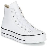 Topánky Ženy Členkové tenisky Converse CHUCK TAYLOR ALL STAR LIFT CLEAN LEATHER HI Biela