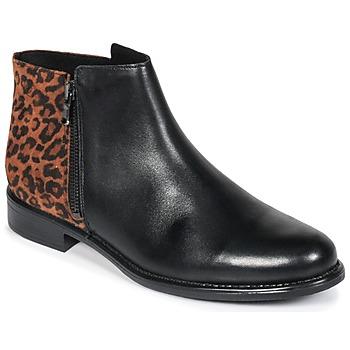 Topánky Ženy Polokozačky Betty London JINANE Čierna / Hnedá