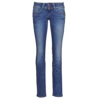 Oblečenie Ženy Rovné džínsy Pepe jeans VENUS Modrá / Medium