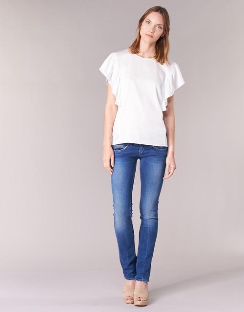 Oblečenie Ženy Rovné Rifle  Pepe jeans VENUS Modrá / Medium