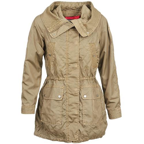 Oblečenie Ženy Kabátiky Trenchcoat Tommy Hilfiger JANINE Béžová