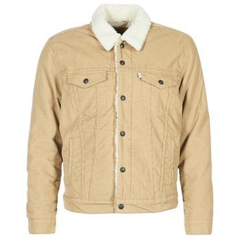 Oblečenie Muži Džínsové bundy Levi's TYPE 3 SHERPA TRUCKER Béžová