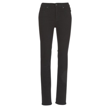 Oblečenie Ženy Rovné džínsy Levi's 724 HIGH RISE STRAIGHT Čierna / Sheep