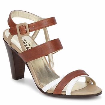 Topánky Ženy Sandále Karine Arabian JOLLY Koňaková / Béžová / Biela