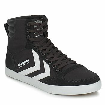 Topánky Členkové tenisky Hummel TEN STAR HIGH CANVAS Čierna / Biela