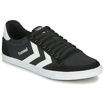 Topánky Členkové tenisky Hummel TEN STAR LOW CANVAS Čierna / Biela