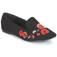 Topánky Ženy Mokasíny Moony Mood JASMINY Čierna / Kvetovaná