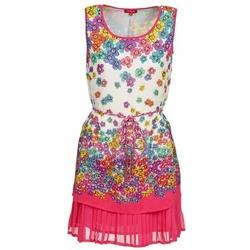 Oblečenie Ženy Krátke šaty Derhy BARMAN Krémová / Ružová