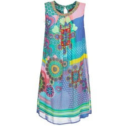Oblečenie Ženy Krátke šaty Derhy BARDE Modrá / Zelená / Viacfarebná