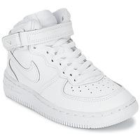 Topánky Chlapci Členkové tenisky Nike AIR FORCE 1 MID Biela