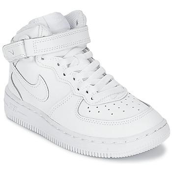 Topánky Deti Členkové tenisky Nike AIR FORCE 1 MID Biela