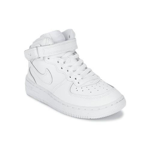 Nike AIR FORCE 1 MID Biela - Bezplatné doručenie so Spartoo.sk ... 27a9384e403