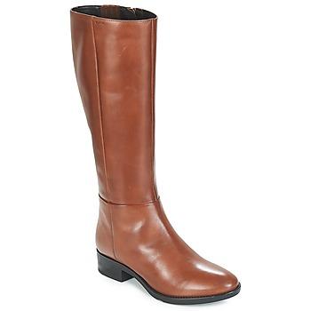 Topánky Ženy Čižmy do mesta Geox D FELICITY Hnedá