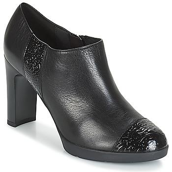 Topánky Ženy Nízke čižmy Geox D ANNYA HIGH Čierna