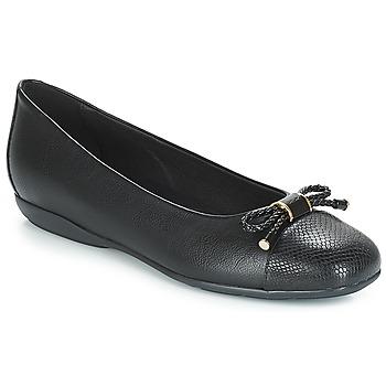 Topánky Ženy Balerínky a babies Geox D ANNYTAH Čierna