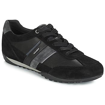 Topánky Muži Nízke tenisky Geox U WELLS Čierna / Námornícka modrá