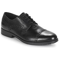 Topánky Muži Derbie Geox U HILSTONE 2FIT Čierna
