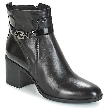 Topánky Ženy Čižmičky Geox D GLYNNA Čierna