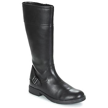 Topánky Dievčatá Čižmy do mesta Geox JR SOFIA Čierna