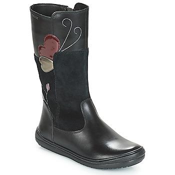 Topánky Dievčatá Čižmy do mesta Geox J HADRIEL Čierna